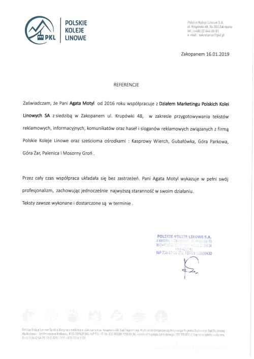 Referencje dla copywriterka.eu